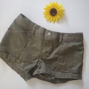 26 International Green Olive Shorts